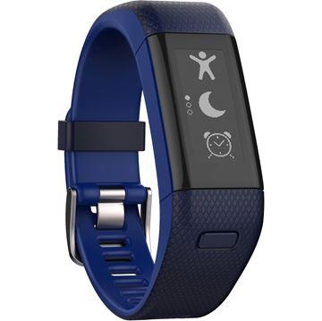 Narukvica za mjerenje aktivnosti GARMIN Vivosmart HR+, GPS, senzor otkucaja srca na zapešću, Move IQ, automatska sinkronizacija,  plava