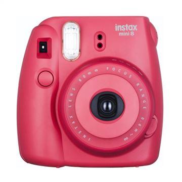 Analogni fotoaparat FUJI FILM Instax mini 8, 62x46 mm slike, automatski flash, crvena
