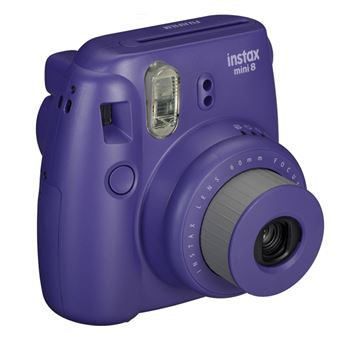 Analogni fotoaparat FUJI FILM Instax mini 8, 62x46 mm slike, automatski flash, ljubičasti