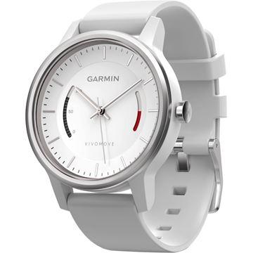 Sat GARMIN Vivomove, sportski analogni sat za praćenje aktivnosti, bijeli
