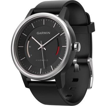 Sat GARMIN Vivomove, sportski analogni sat za praćenje aktivnosti, crni