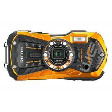 Digitalni fotoaparat RICOH WG-30 Carbon, 16 Mpixela, 5x optički zoom, SD/SDHC/SDXC, Vodootporni, USB, WiFi, narančasti