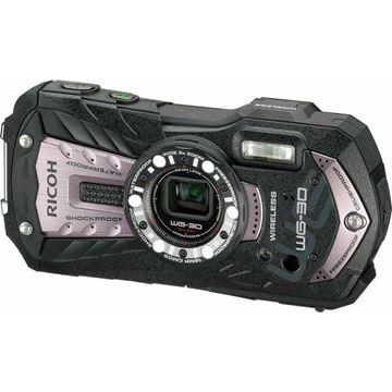 Digitalni fotoaparat RICOH WG-30 Carbon, 16 Mpixela, 5x optički zoom, SD/SDHC/SDXC, Vodootporni, USB, WiFi, sivi