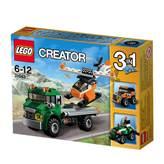 LEGO 31043, Creator, Chopper Transporter, prijevoznik helikoptera, 3u1