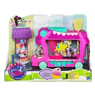 Igračka HASBRO A1356, Littlest Pet Shop, Delights Treat Truck, kamion sa slasticama