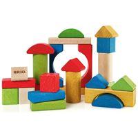 Drvena igračka BRIO 30114, Šarene kocke, 25 komada