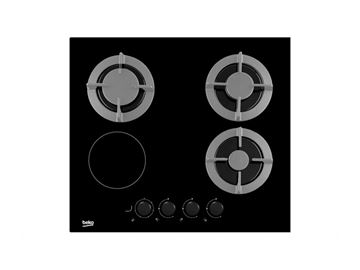 Ugradbena ploča BEKO, HISM64225S, 3 plin +1 struja