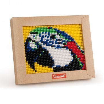 Kreativni set QUERCETTI 0824, Mini Pixel Art, 1200 ćavlića, papiga