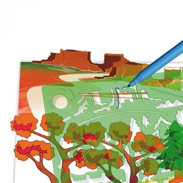 Kreativni set QUERCETTI 2616, Sagome, predložak za crtanje, pejzaži