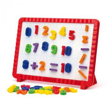 Kreativni set QUERCETTI 5183, Magnetino Numbers, magnetni brojevi sa pločom, 48 komada