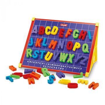 Kreativni set QUERCETTI 5211, Magneta ABC, magnetna ploča za crtanje s slovima, 53 komada