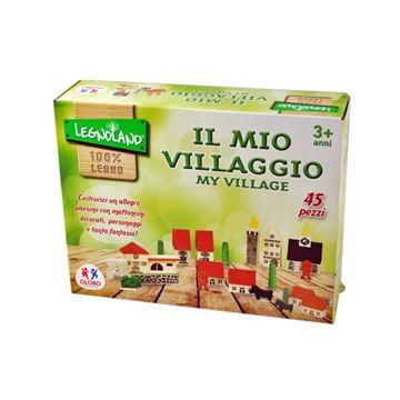 Drvena igračka LEGNOLAND 36576, Moje malo selo, 45 komada