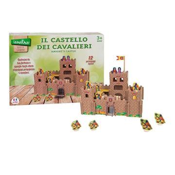 Drvena igračka LEGNOLAND 36577, Drveni dvorac s konjanicima, 12 komada