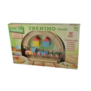 Drvena igračka LEGNOLAND, Drveni vlakić sa tračnicama, 21 komad