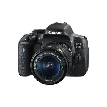 Digitalni fotoaparat CANON EOS 750D + objektiv EFS 18-55 IS, 18 Mpixela, SD, SDHC, SDXC, HDMI