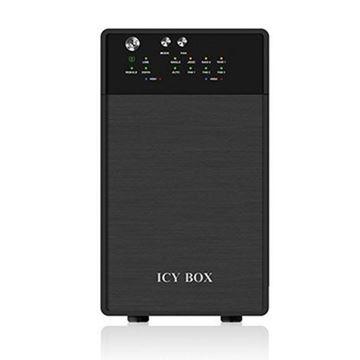 "Eksterno kućište USED ICY BOX IB-RD3620SU3, 3.5"",  RAID, SATA I II III, USB 3.0, eSATA, crno"