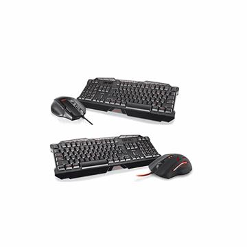 Tipkovnica + miš TRUST GXT 280, led illuminated, GXT 152, optički, 2400dpi, USB, crni