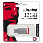 Memorija USB 3.1 FLASH DRIVE 32 GB, KINGSTON DT50/32GB, crvena