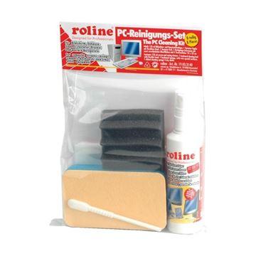 Set za održavanje računala ROLINE - komplet za čišćenje monitora, tekućina, krpica