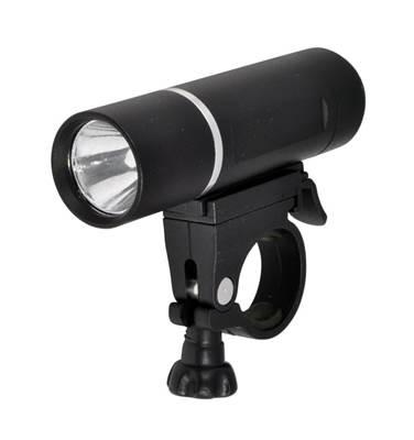 Svjetlo za bicikl LONGUS, prednje 3W LED/2f + baterija, crno