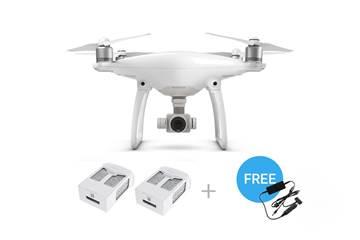 Drone DJI Phantom 4, 4K UHD kamera, 3D gimbal, upravljanje daljinskim upravljačem + 2x dodatna baterija i auto punjač
