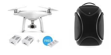 Drone DJI Phantom 4, 4K UHD kamera, 3D gimbal, upravljanje daljinskim upravljačem + 2x dodatna baterija, punjač i ruksak