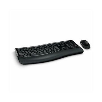 Tipkovnica + miš MICROSOFT Wireless Comfort Desktop 5050, bežična, crna, USB