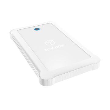 """Eksterno kućište ICY BOX IB-233U3-Wh, 2.5"""" SATA HDD/SDD - USB 3.0, poseban dizajn za otpornost, bijelo"""