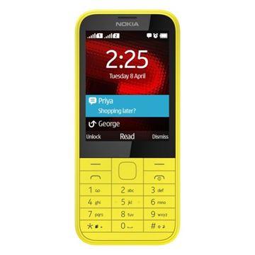 """Mobitel NOKIA 225 DS, 2.8"""", MicroSD, Dual SIM, kamera, žuti"""