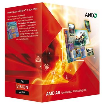 Procesor AMD A6 X2 6400K BOX, Black Edition, s. FM2, 3.9GHz, 1MB cache, GPU 8470D, Dual Core
