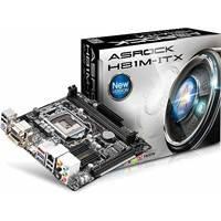 Matična ploča ASROCK H81M-ITX, iH81, DDR3, zvuk, S-ATA, G-LAN, PCI-E, DVI, D-SUB, HDMI, USB 3.0, mITX, s. 1150