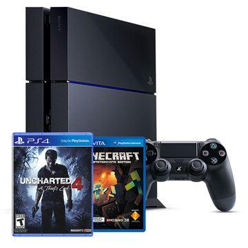 Igraća konzola SONY PlayStation 4, 1000GB + Uncharted 4: A Thief's End + Minecraft