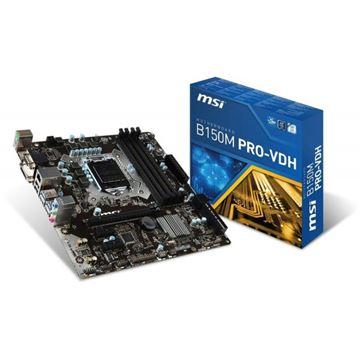 Matična ploča MSI B150M PRO-VDH, Intel B150, DDR4, zvuk, SATA, PCI-E 3.0, VGA, DVI, HDMI, USB 3.1, mATX, s. 1151
