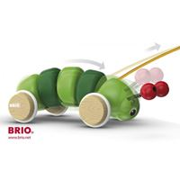 Drvena igračka BRIO 30169, Pull-Along Caterpillar, igračka na povlačenje, gusjenica
