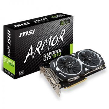 Grafička kartica PCI-E MSI GeForce GTX 1070 Armor OC, 8GB, DDR5, DVI, HDMI, DP