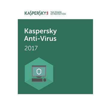 KASPERSKY Anti-Virus 2017, 3D, licenca jedna godina + 3mj retail