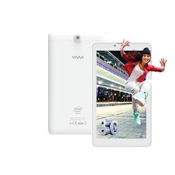 "Tablet računalo VIVAX TPC-702 3G, 7"" IPS multitouch, QuadCore Intel Atom z3200 1.0GHz, 1GB RAM, 8GB Flash, MicroSD, BT, 2x kamera, DualSIM, Android 5.1, bijelo"