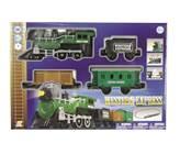 Igračka GOLDLOK GL 9666, Western Express, vlak na baterije, lokomotiva i tri vagona, zeleni
