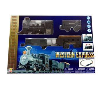 Igračka GOLDLOK GL 9669, Western Express, vlak na baterije, lokomotiva i tri vagona