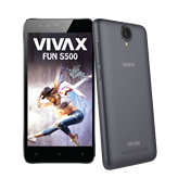 "Smartphone VIVAX Smart Fun S500, 5"", QuadCore MTK6580M2 1,30GHz, 1GB RAM, 8GB Flash, MicroSD, DUAL SIM, BT, 3G, kamera, Android 5.1, sivi"