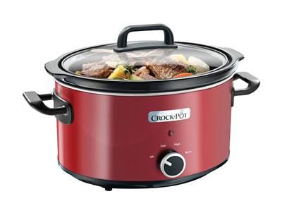 Uređaj za sporo kuhanje CROCK POT SCV400RD-050, 3,5l, crveni