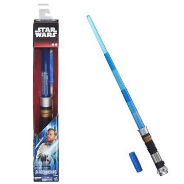 Svjetlosni mač HASBRO B2919, STAR WARS, Obi One Kenobi lightsaber, elektronski, plavi