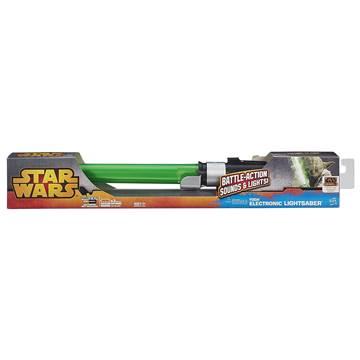Svjetlosni mač HASBRO B2919, STAR WARS, Yoda lightsaber, elektronski, zeleni