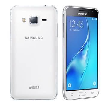 """Smartphone SAMSUNG Galaxy J3 J320F/DS, 5"""" Super AMOLED, QuadCore Cortex A7 1.5GHz, 1.5GB RAM, 8GB Flash, 4G LTE, Dual SIM, MicroSD, 2x kamera, Android 5.1.1, bijeli"""