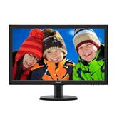 "Monitor 23.6"" LED PHILIPS 243V5QSBA, FHD, 8ms, 250cd/m2, 10.000.000:1, D-SUB, DVI-D, crni"