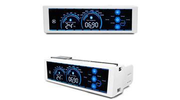 """Front Panel LC POWER LC-CFC-2 Airazor Series, potenciometar za 6 ventilator, 5.25"""" LCD touchscreen, bijeli"""