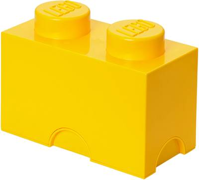 Kutija LEGO Storage Brick 2, žuta