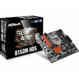 Matična ploča ASROCK B150M-HDS, Intel B150, DDR4, zvuk, G-LAN, SATA, PCI-E, DVI-D, HDMI, USB 3.0, mATX, s. 1151