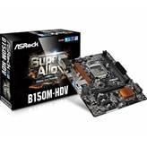 Matična ploča ASROCK B150M-HDV, Intel B150, DDR4, zvuk, G-LAN, SATA, PCI-E, D-Sub, DVI-D, HDMI, USB 3.0, mATX, s. 1151