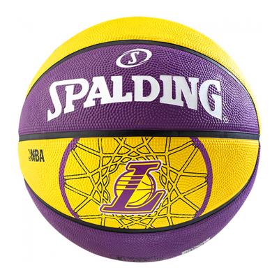 Košarkaška lopta SPALDING NBA Team LA Lakers,gumena, vel.7